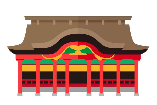 Town illust for Case tradizionali giapponesi