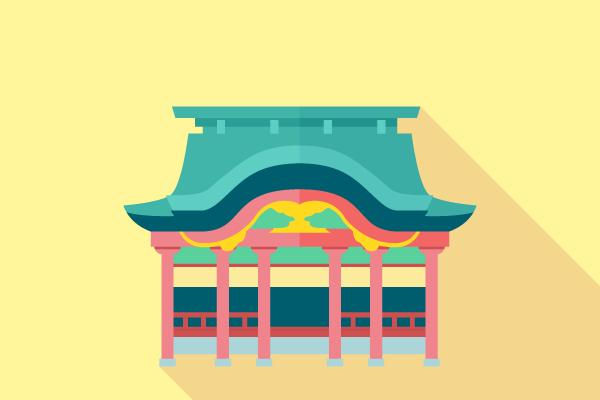 Town illust 6 for Case tradizionali giapponesi