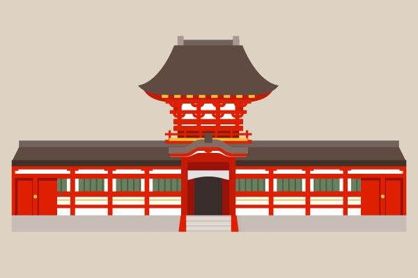春日大社中門のイラスト