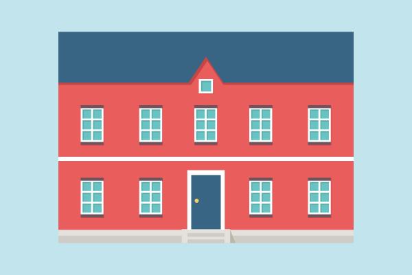 欧州の住宅っぽいイラスト4