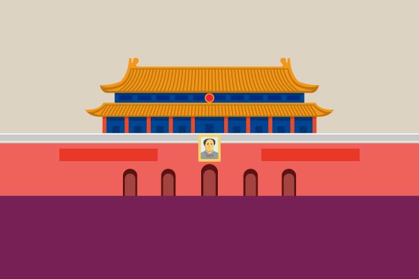 天安門のフリーイラスト – 街、建物系イラスト専門サイト「TOWN illust」
